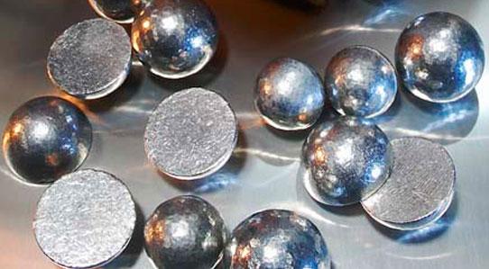bolas de zinc